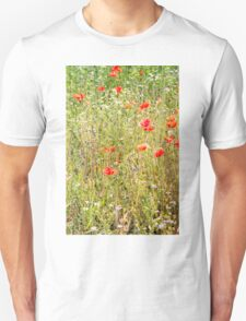 Red Poppies and Wild Flowers T-Shirt