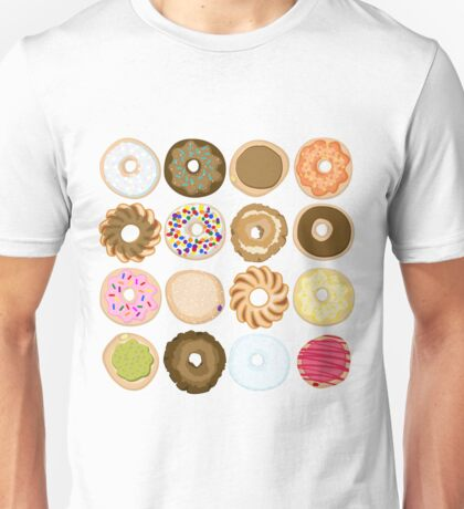 Sixteen Donuts of Awesome Unisex T-Shirt