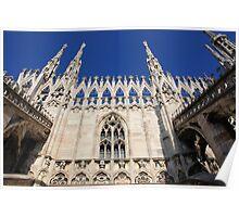 Facade of Milan Duomo Poster