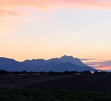 Nightfall On The Grey Mountains by Andrea Mazzocchetti