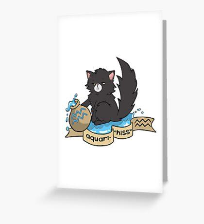 Catstrology - Aquari-hiss Greeting Card