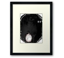 Under the Garden Hedge - The Lantern Framed Print