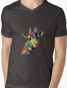 Giraffa Mens V-Neck T-Shirt