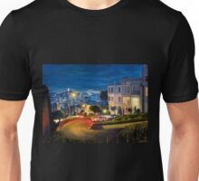 View at Lombard Street in San Francisco - painting Unisex T-Shirt