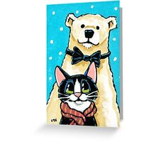 The Dapper Polar Bear Greeting Card