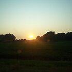 Farmland Sunset by bugboobunz