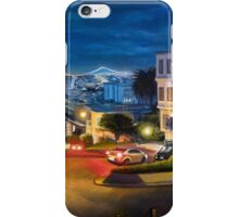 View at Lombard Street in San Francisco - painting iPhone Case/Skin