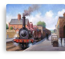 Wareham station 1875 Canvas Print