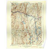 Massachusetts  USGS Historical Topo Map MA Orange 352022 1941 31680 Poster