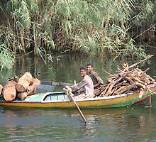 Getting the firewood Nile style by Doug Cliff