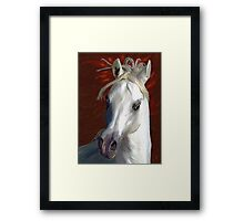 White Fire Framed Print
