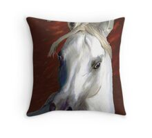 White Fire Throw Pillow