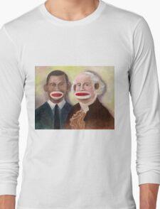 George Washington and Obama as Sock Monkeys Long Sleeve T-Shirt
