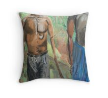 exploitation young workers in nigeria,africa Throw Pillow
