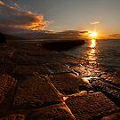 Lyme Regis quayside at dawn by Shaun Whiteman