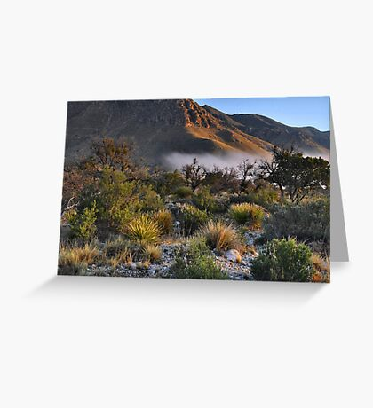 Fog At Sunrise - Guadalupe Mountains Greeting Card