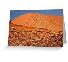 Red curve of dune Greeting Card