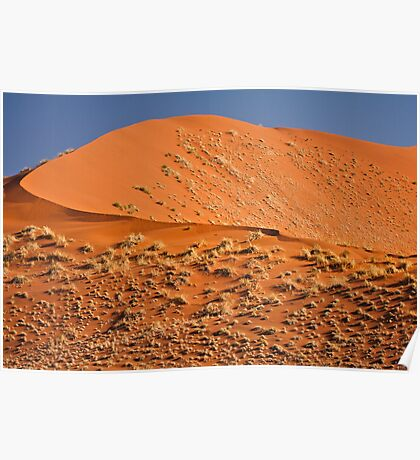 Red curve of dune Poster