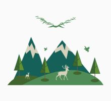 Mountain Nature Kids Clothes