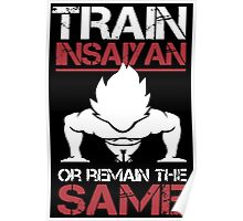 DragonBall Z Goku Train Insaiyan Or Remain The Same Train Insaiyan It's Over 9000 Goku's Gym Anime Cosplay Gym T Shirt Poster