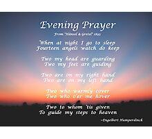Hansel and Gretel's Evening Prayer Photographic Print