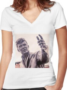 A heart for Billy Fury Women's Fitted V-Neck T-Shirt