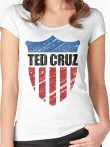 Ted Cruz Patriot Shield Women's Fitted Scoop T-Shirt
