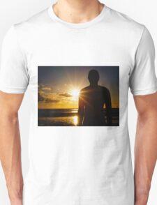 Iron Man at Sunset, Crosby Beach T-Shirt