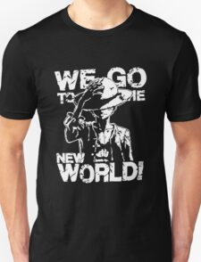 One Piece Monkey D. Luffy We Go To The New World Mugiwara Strawhats Pirates Anime Cosplay T Shirt T-Shirt