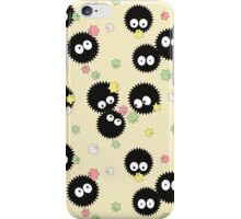 Ghibli Inspired Soot Sprites with Candy Pattern iPhone Case/Skin