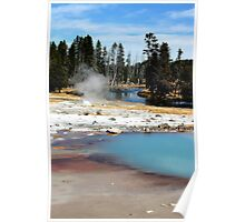 Biscuit Basin Firehole River Poster