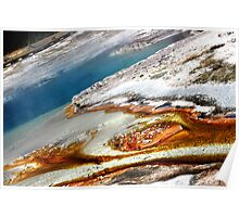 Sapphire Pool at Biscuit Basin in Yellowstone Poster