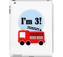 3rd birthday fire truck geek funny nerd iPad Case/Skin