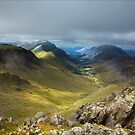 Approaching Great Gable II by Ian Parry