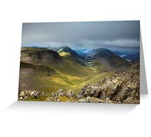 Approaching Great Gable II Greeting Card