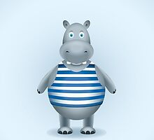 Hippo-sailor in the vest by alijun