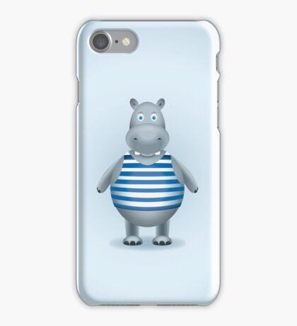 Hippo-sailor in the vest iPhone Case/Skin