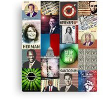 Conservatives Collage Canvas Print