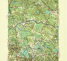 Massachusetts  USGS Historical Topo Map MA Reading 352115 1944 31680 by wetdryvac