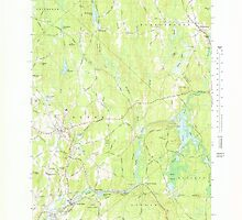 Massachusetts  USGS Historical Topo Map MA Barre 350833 1969 25000 by wetdryvac