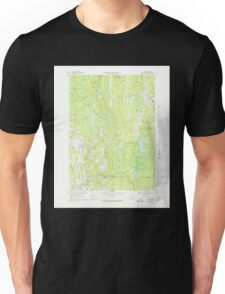 Massachusetts  USGS Historical Topo Map MA Barre 350833 1969 25000 Unisex T-Shirt