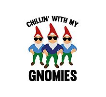 Chillin' With My Gnomies Photographic Print