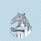 Tea time starts now - Malayan Tapir by isfeather