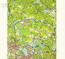 Massachusetts  USGS Historical Topo Map MA Reading 352117 1951 31680 by wetdryvac