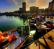 Laid up till morning.Fuengirola Harbour by Kelvin Hughes