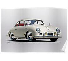 1955 Porsche 356 'Continental' Poster