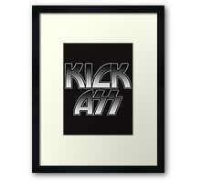 KICK ASS - Parody (Grey) Framed Print