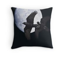 Ravens of the Night Throw Pillow