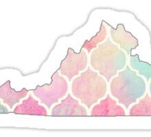 Watercolor Virginia Sticker