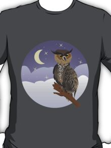 Horned Owl on a Branch T-Shirt